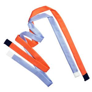 pair of colorful printed skinny silk twill scarf