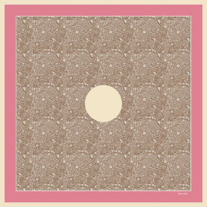 Pink and beige silk twill pocket square design