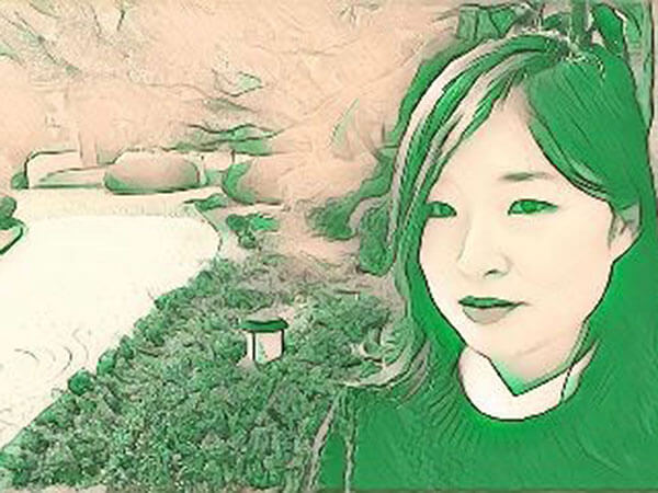 green portrait of junhee kim