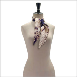 maannequin with medium printed silk twill scarf