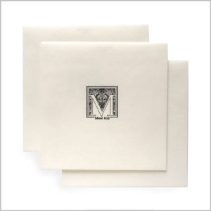 white envelops with printed mont kiji logo