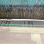 silk weaving machine close up