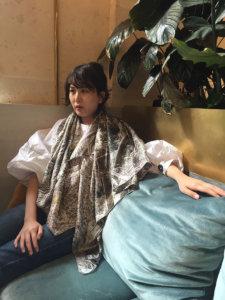 big-branch-printed-scilk-scarf-on-woman-sitting