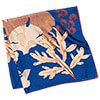 algae printed blue silk scarf folded