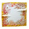 algae with yellow border printed silk scarf