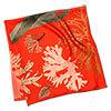 algae printed red silk scarf folded