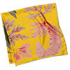 algae printed yellow silk scarf folded