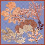 algae printed lavender silk scarf design