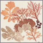 flowers trees houses printed grey and pink silk twill scarf design for mobile