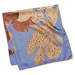 algae printed lavender silk scarf folded