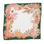 algae with green border printed silk scarf