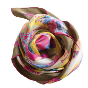all over cat printed personalized pink scarf in bundle