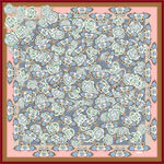 all over butterfly and flowers printed pastel color silk scarf