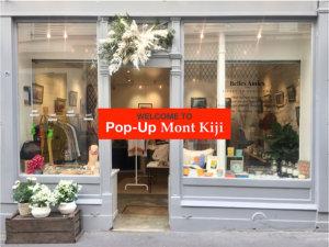 Mont Kiji pop-up store in saint germain