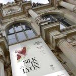 silk in lyon poster on palais de la bourse in lyon