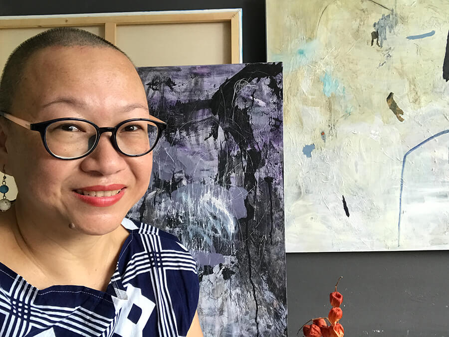 portrait of an artist Charlotte chin